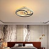 LED Silencioso Ventilador Techo con Luz Y Mando Distancia 3 Velocidades Regulable Dormitorio Lamparas Ventilador De Techo con Temporizador Sala Ventilador Techo con Luz,58cm