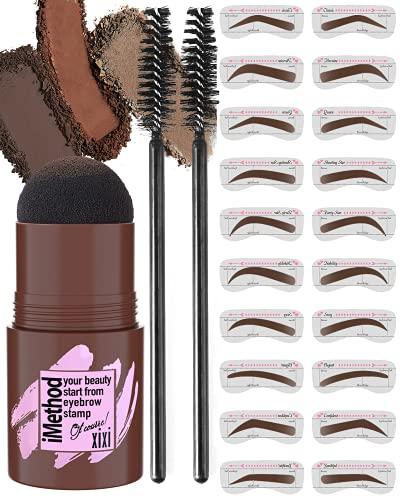 iMethod Eyebrow Stamp and Eyebrow Stencil Kit - 1 Step Eyebrow Stamp...