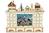 Clever Creations Wooden Advent Calendar | Bright Lights and Christmas Cheer | Perfect Decorations for Your Home (04 - Town)