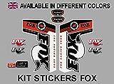 Ecoshirt F2-6HZ9-UP2J Pegatinas Horquila Fork Fox Float Talas 32 Pda06 Stickers Aufkleber Decals Autocollants Adesivi, Rojo