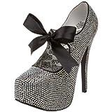 Bordello TEEZE-04R - Zapatos de tacón para Mujer, Color Iridescent Rhinestones, Talla 39