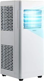 Aire acondicionado PortáTil PortáTil con Control Remoto Y Pantalla Led Digital, Deshumidificador, FuncióN De SincronizacióN Y Ruedas En La Parte Inferior.