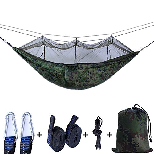 Draagbare hangmat camping double & Single met boomriemen - hangmatten merk Gear Indoor Outdoor Backpacking Survival & Travel