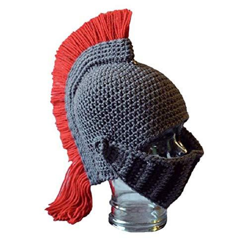 ScucsKönig Spartan Helm Strickmütze, Herren Handarbeit Mütze Stricken Lustig Hut...