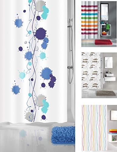 KW Luxus Duschvorhang aus Stoff, wasserabweisend, maschinenwaschbar Kleexx