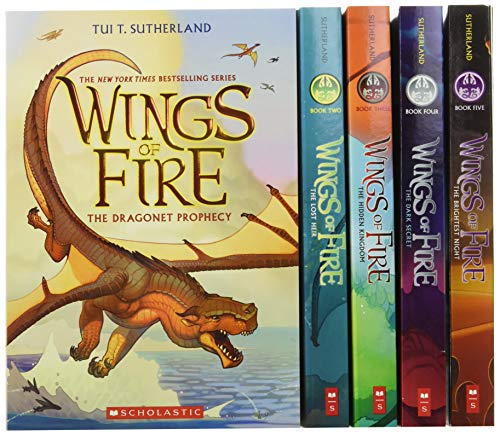 Wings of Fire: The Dragonet Prophecy / The Lost Heir / The Hidden Kingdom / The Dark Secret / The Brightest Night