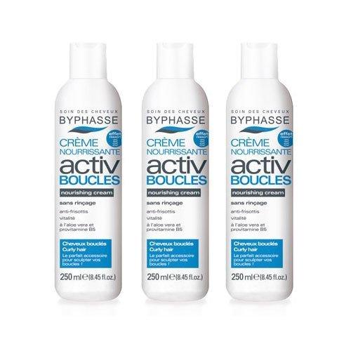 Byphasse, Crema Nourrissante Activ Pendientes Cabello Rizado, 250ml x 3 unidades