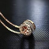 HUOQILIN Collar Colgante Anillo De La Eternidad Collar Collar De Hombres Y Mujeres Coreanos Accesorios De La Joyería Personalizada Cadena Pendiente Del Suéter Temperamento Párrafo Corto Anillo De Amor