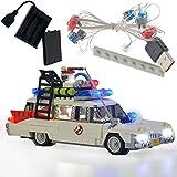 GEAMENT Kit de luz de bloques para cazafantasmas ecto 1 – Juego de iluminación USB compatible con Lego 21108 modelo de ladrillos de construcción (juego Lego no incluido)