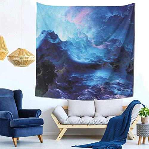 Tapices coloridos y variados, lujoso tapiz de pared atmosféricapara colgar en la pared, dormitorio de sala de estar decorado (14 x 14 cm), misterioso fondo de río estrellado maravilloso (14)