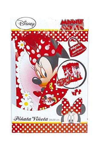 Minnie Mouse - Piñata viñeta lunares, 20X30 cm (Verbetena 014000297)