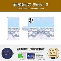 Minisuit AQUOS sense3 ケース 手帳型 アクオス センス3 カバー スマホケース おしゃれ かわいい 耐衝撃 花柄 人気 純正 全機種対応 冬の町 ファッション かわいい シンプル 15433996