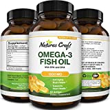 Omega 3 Fish Oil Supplement - EPA DHA Fish Oil Omega 3 Supplement with Immune Booster Brain Vitamins - Burpless Fish Oil 1200 mg for Mood Boost Liver Support and PMS Relief