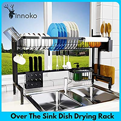 """[UPGRADED 2020] Innoko Over the Sink Dish Drying Rack (33""""), Stainless Steel Dish Drainer, Kitchen Sink Organizer, Above Sink Space Saver Storage Shelf Accessory (Sink Length ? 32.5"""") from INNOKO"""
