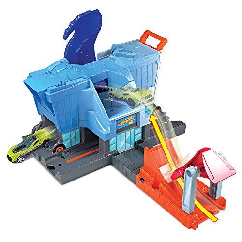 Hot Wheels GBF92 - City T-Rex SupermarktAlarm, Spielzeug ab 4 Jahren