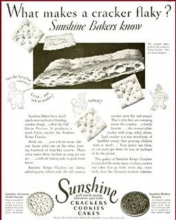 1930 Advertisement for Sunshine Krispy Crackers & Hydrox Cookies Original Paper Ephemera Authentic Vintage Print Magazine Ad/Article