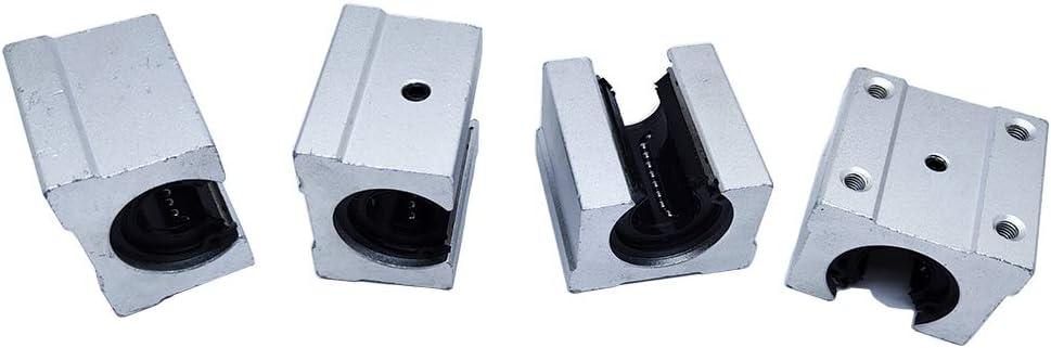 SBR16uu 4 Pcs security 16mm Aluminum Open Block SBR16 for Max 70% OFF Slide Linear 16