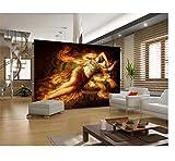 Benutzerdefinierte Fototapete Sexy schönheit Self Print Home Decor Art für Schlafzimmer 3D HD Wallpaper Szene und von Adhesive Living