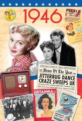 1946 Geburtstags-Geschenk-Idee - 1946 DVD Film und 1946 Geburtstags-Karte