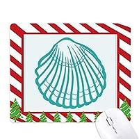 海洋生物の緑のイラストのホタテ ゴムクリスマスキャンディマウスパッド