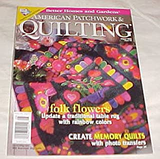 American Patchwork & Quilting August 2000 Issue 45 (Better Homes and Gardens) Magazine