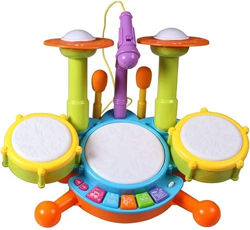 directo de fábrica LINGLING-Tambor Combinación de Tambor Tambor Tambor para Niños con micrófono Jazz Batería de percusión Juguete Musical 3-6 años Old Boy Girl (Color   azul)  cómodo