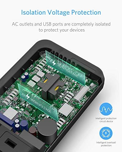 BESTEK 200W Power Inverter DC 12V to 110V AC Inverter with 4.2A 4-Port USB Car Adapter (Black)
