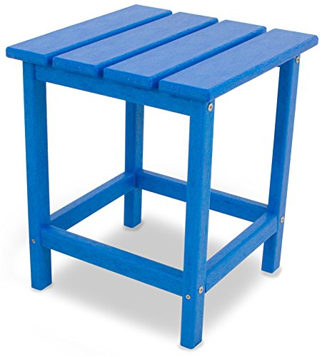 POLYWOOD ECT18PB Long Island 18' Side Table, Pacific Blue