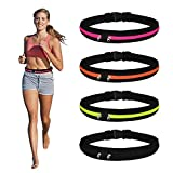 <span class='highlight'><span class='highlight'>MaoXinTek</span></span> Running Belt, Slim Funny Waist Pack with Zipper Pouches 4PCS Phone Holder for Men and Women Runner with 2 Expandable Pockets for Cards, Money, Sports, Travel, Jogging, Spy, Cycling, Hiking