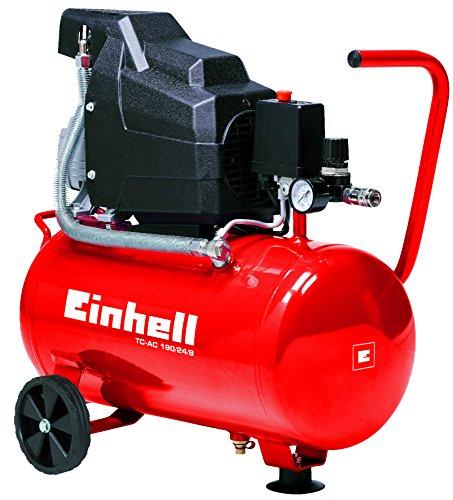 Einhell Compressore TC-AC 190/24/8 Kit, 2850 min-1, pressione di esercizio max. 8 bar, capacità serbatoio 24 L