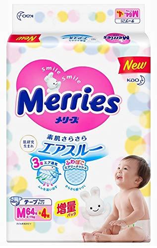 Japanische Windeln Merries M (6-11 kg)// Japanese diapers - nappies Merries M (6-11 kg)// Японские подгузники Merries M (6-11 kg)