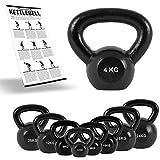 Kettlebell Profesional Iron 2 - 30 kg con póster de ejercicios Kettlebells, Pesas
