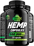 Hemp Oil Capsules for Relief & Anxiety Best Joint Support Your Health & Sleep Supplement Immune and Mood Anti Inflammatory Natural Organic Hemp Seed Oils Pure Powder