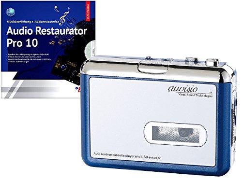 auvisio MP3 auf Kassette: Tragbarer USB-Kassettenspieler für MP3-Aufnahme inkl. Software (MP3 auf Kassette Aufnehmen)