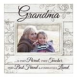 Malden International Designs Sun Washed Words Grandma Cream Distressed Picture Frame, 4x6, Cream