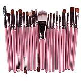 OPNIGHDYMD Conforman Pincel, 20pcs de Cepillo del Maquillaje de Ojos Maquillaje Herramientas (Color : Color3)