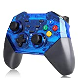 Controller for Nintendo Switch TUTUO Wireless Switch Pro Controller for Switch/Switch Lite, Switch Pro Wireless Controller Bluetooth Joystick Gamepad with Dual Shock Gyro Axis Blue Anti-Skid