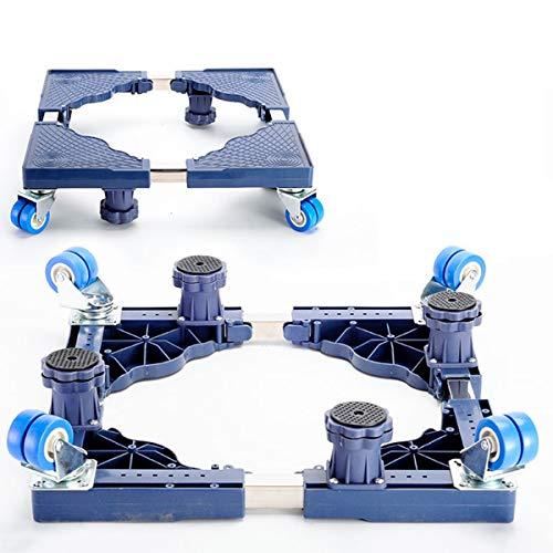 Mfnyp Wasbasis voetstuk basis, met 4 × 2 rubberen wielen caster bewegen universele wiel Badkamers verhogen voor droger, Wasmachine
