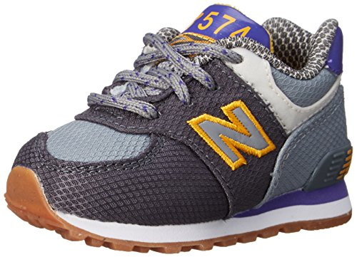 New Balance Unisex-bébé 574 Week-End Expedition Chaussures, 20 EU Large, Grey/Purple Heather