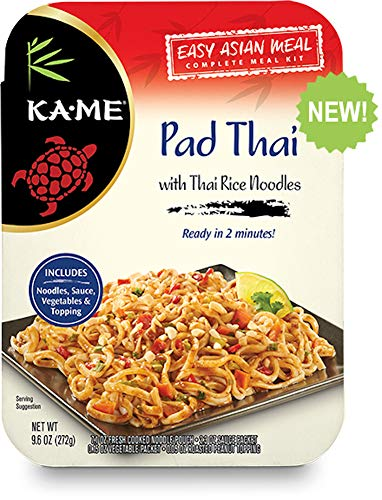 KA-ME Easy Asian Complete Meal Kit with Thai Rice Noodles, 9.6 oz. Meals, Pad Thai, 6-Pack (470573)