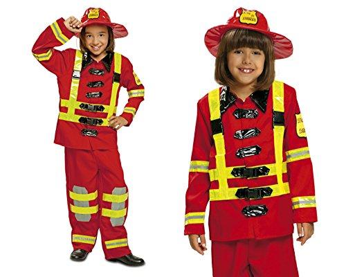 My Other Me Me 200909 - Disfraz de bombero para nios, Talla 3-4 aos