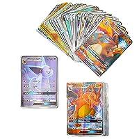 ゲームカードポケモンカード8.0 X 100GX 20MEGA 50VMAX 10Vフランス語版繰り返し輝くゲームコレクションバトルカルテタディールカードおもちゃ (Color : 100EX(80EX20MEGA)FR)