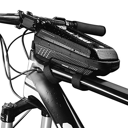 Lixa-da Bolsa de Cuadro de Tubo Superior de Bicicleta a Prueba de Lluvia Impermeable Paquete de Tubo con Diseño de Doble Cremallera MTB E5 PU