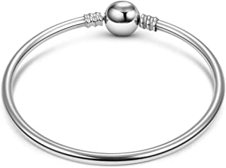 JIAYIQI Charm Bracelet,925 Sterling Silver Basic Charm Bracelet Snake Chain Fine Jewelry for Women, Endearing Gifts for Her …