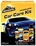 Armor All Car Care Kit (Ultra Shine Wash & Wax 16-Ounce, Original Protectant 10-Ounce, Tire Foam 20-Ounce and Glass Wipes 25-Count), 1 Kit (Pack of 6)