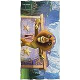 Madagascar Cartoon Movie Lion Bath Towel Toalla de Playa de Gran tamaño 51in x 32in Uso como Yoga Viaje Camping Gimnasio Toallas de Piscina