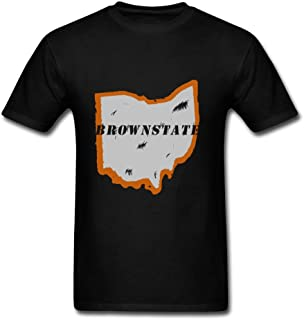 Brownstate2.png Print Men O-neck Top Clothing - Size - Electric Color