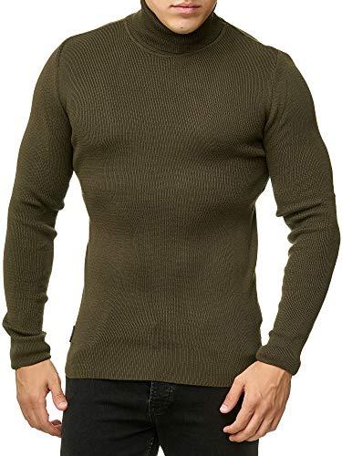 Red Bridge Herren Rollkragen Pullover Sweatshirt Strickpullover Khaki L
