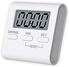ZFFLYH Kitchen Timer, Alarma Electrónica Recordatorio Reloj LCD Digital de Cocina Que Cocinan La Cuenta Regresiva Herramientas Magnéticas Temporizador de Cuenta Gadgets de Cocina