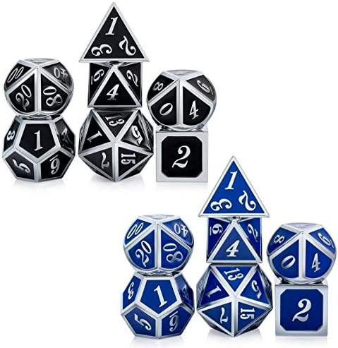 DNDND Color Changing DND Game Dice Set 7 PCS Metallic Die with Free Metal Strorage for Role product image
